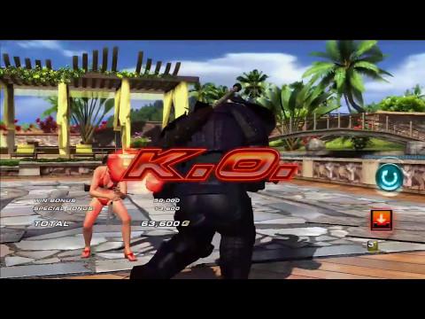 Lili & Kunimitsu Swimsuit vs Random Casuals #24 - Tekken Tag Tournament 2