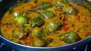 గుత్తి వంకాయ కూర సులభంగా ఇంట్లో చేయటం//stuffed brinjal curry//guthi vankaya kura telugu