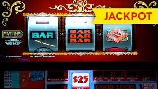 JACKPOT HANDPAY! Double Top Dollar Slot - Progressive $10 | $20 | $50 Max Betting! 2017 Video