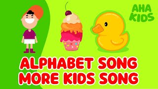 Alphabet Song | + More Kids Song | AHA KIDS