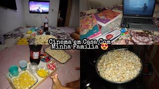 Cinema Em Casa ❤️ Rotina da Noite na Quarentena / Pipoca de Cinema / Estudos ... ❤️
