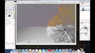Managing Trees In Astroimages using GIMP