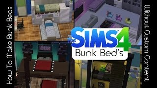 ► Sims 4 - How To Build Bunk Beds Without Cc