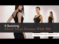 9 Stunning Black Maxi Dresses With Slit Amazon Maxi Style Collection 2017