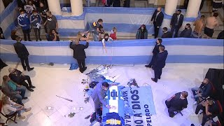 Despedida a Maradona en la Casa Rosada