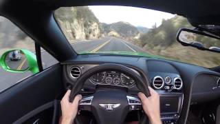 2016 Bentley Continental GT Speed Convertible (Top Down) - WR TV POV Canyon Drive