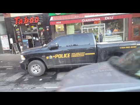 police NewYork STATE ENVLRONMENTAL CONSER CONSER VATlON pick up truck no light and no Siren