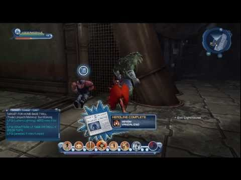 Killer Croc and Me Fighting Bane in DC Universe Online