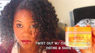 cantu naturals define shine custard twist out