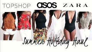 ZARA, TOPSHOP & ASOS TRY ON HAUL - SUMMER HOLIDAY LOOKBOOK | Style With Substance