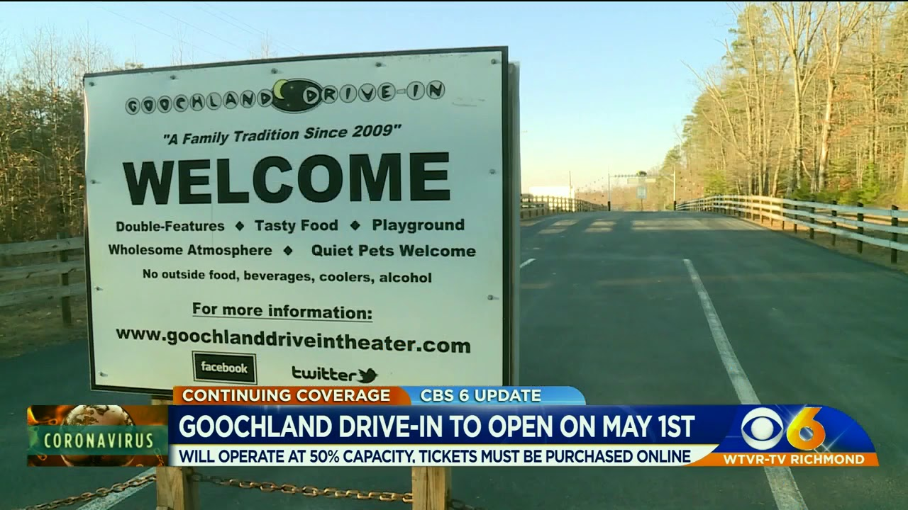 Goochland Drive In Theater Announces Opening Date Youtube Discover goochland places to stay and things to do for your next trip. goochland drive in theater announces opening date