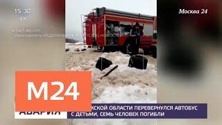 Смотреть видео Задержан водитель автобуса, который попал в аварию в Калужской области - Москва 24 онлайн