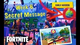 SECRET Message in Loading Screens! (Week 6) | Fortnite Battle Royale