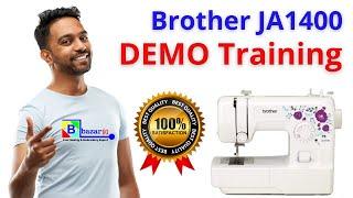 Brother JA 1400 home sewing machine Demo #bazar91