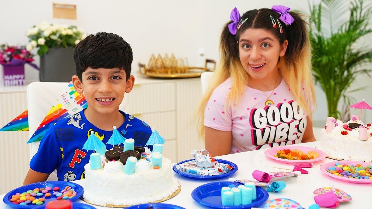 Jason Pretend Play Double Birthday Party with Sara
