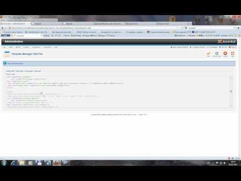 Изменяем название сайта в шаблоне к  Joomla 1.6