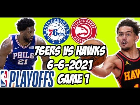 Philadelphia 76ers vs Atlanta Hawks Game 1 6/6/21 NBA Playoff Free NBA Pick & Prediction