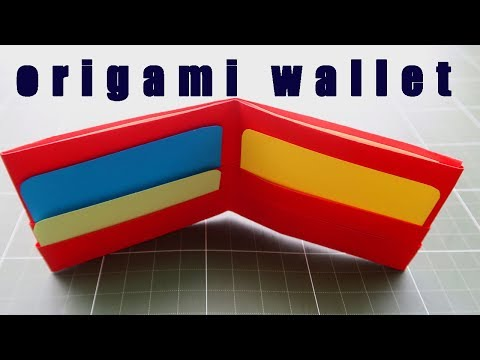How to make a paper wallet ?  paper purse | origami wallet | easy origami