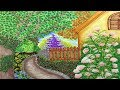 Fairy Tale Cottage House Garden with Pathway Landscape Design
