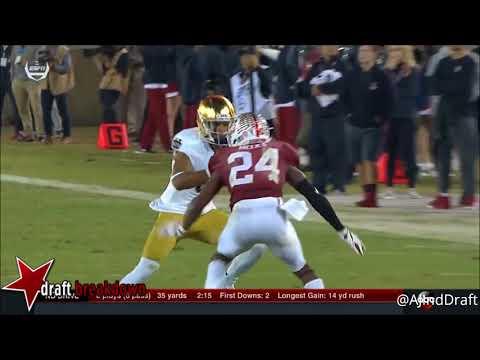 Quenten Meeks (Stanford CB) vs Notre Dame - 2017