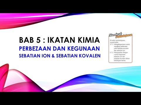 NOTA KIMIA TINGKATAN 4 BAB 5:  Perbandingan Sebatian Ion Dan Kovalen