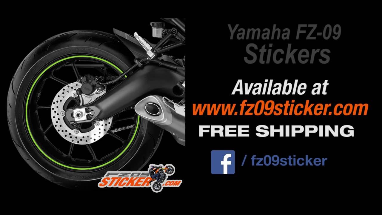 Yamaha fz 09 custom street fighter naked bike stickers