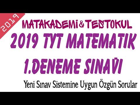 2019 TYT DENEME SINAVI 01 - TEST OKUL YAYINLARI - YENİ NESİL SORULAR