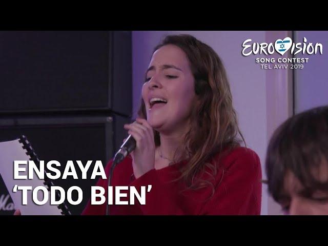 MARILIA ensaya 'Todo bien' | Eurovisión 2019