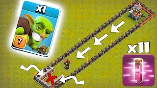 OUTRUN THE EAGLE ARTILLERY!!🔸TROLL RUN!!🔸Clash Of Clans 😀