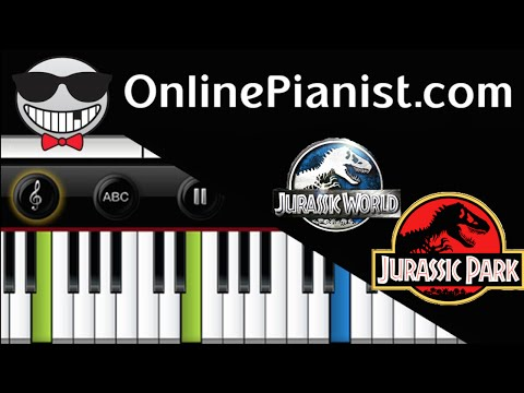 Jurassic World/Jurassic Park Main Theme - Piano Tutorial & Sheets (Easy) John Williams