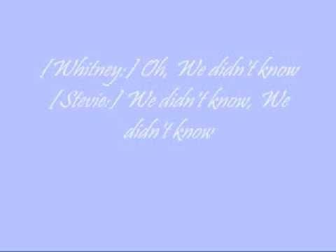 Whitney Houston + Stevie Wonder (Duet) - We Didn't Know (Lyrics)
