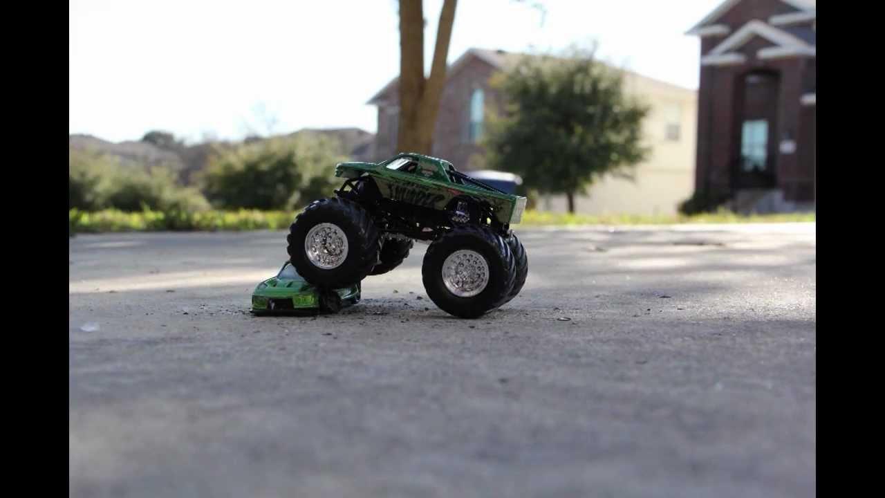 Monster Jam Truck VS Hot Wheels Cars - Crush, Crush, Crush ...