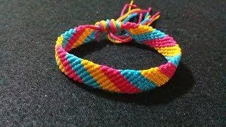 Download Video Cuma 1 Langkah Membuat Gelang 3 Warna Dari Benang//Macrame bracelet//Diy//Friendship bracelet MP3 3GP MP4