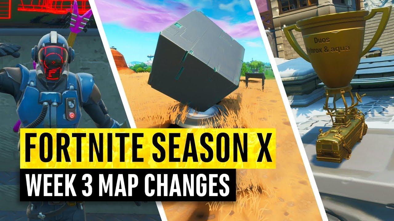 Fortnite All Season X Map Updates And Hidden Secrets Week 3