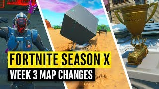 Fortnite | All Season X Map Updates and Hidden Secrets! WEEK 3