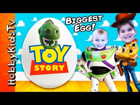 Giant TOY STORY Surprise Eggs with HobbyKidsTV - YouTube