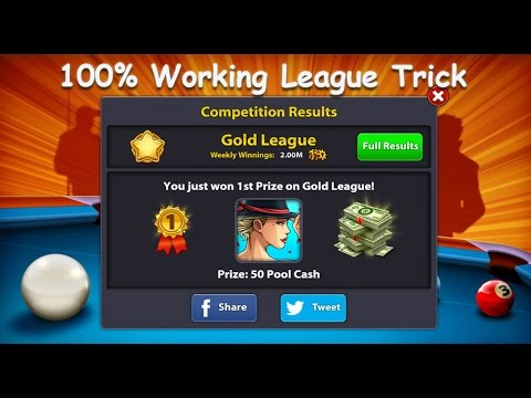 8 Ball Pool !! League Trick 100% Working!! No cheats Hack