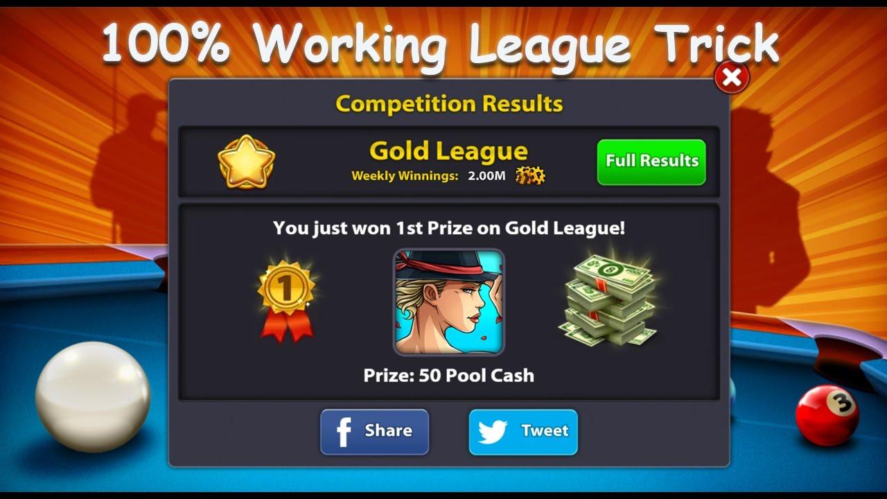 8 Ball Pool !! League Trick 100% Working!! No cheats Hack -