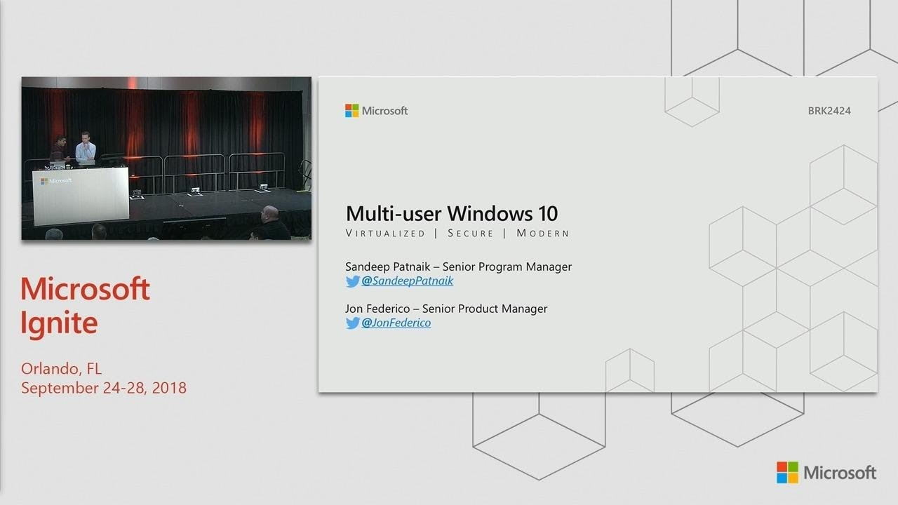 New multi-session virtualization capabilities in Windows - BRK2424