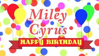 Happy Birthday Miley Cyrus Song