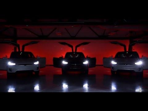 Tesla Model X Easter Egg Holiday Dance - YouTube