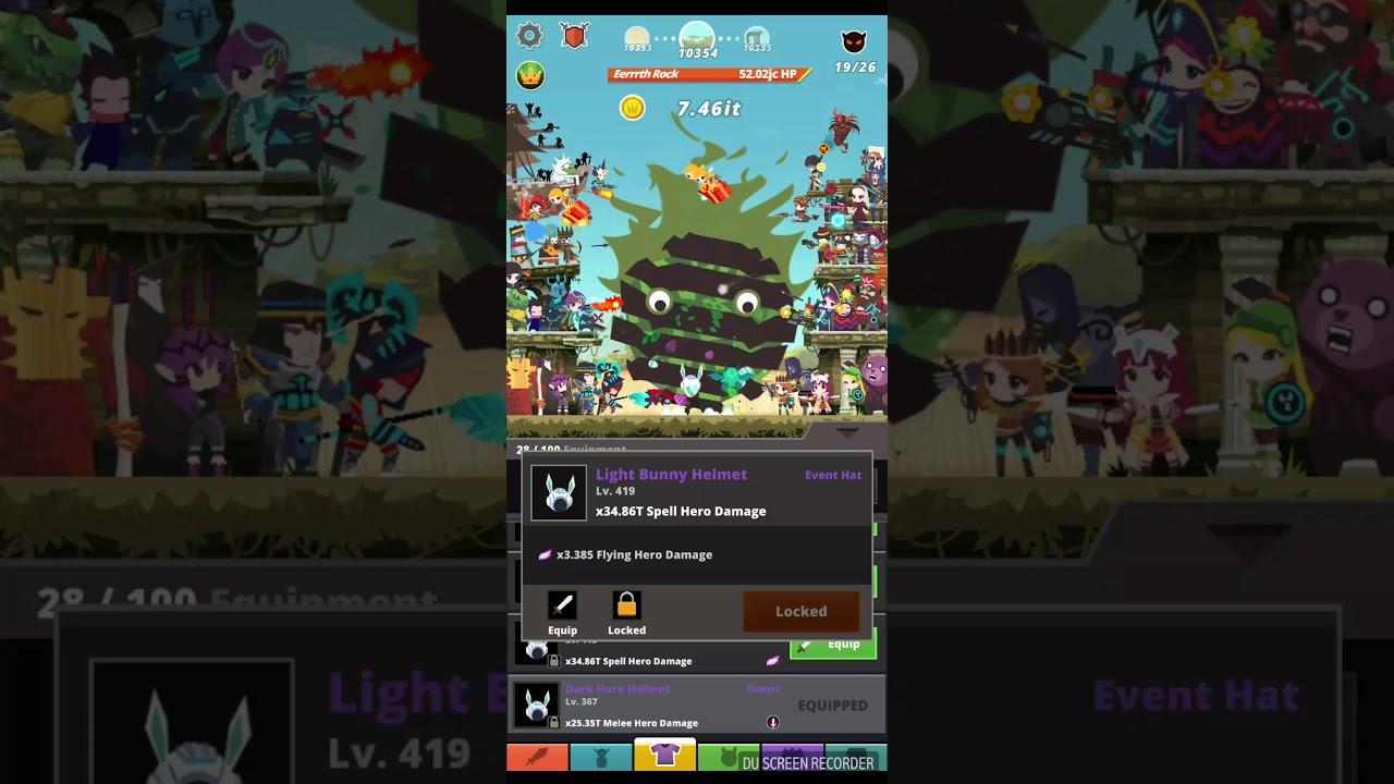 Tap Titans 2 progress  11111ms CS/Dimension Shift build