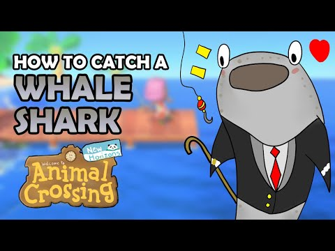 How To Catch A WHALE SHARK In Animal Crossing New Horizons [13,000 Bells - BEST Fish Guide]