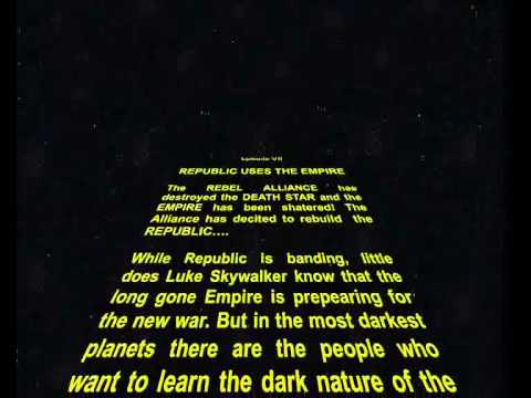 Star Wars Crawl In Power Point
