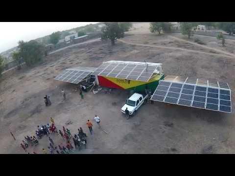 Africa GreenTec Solartainer Aufbau in Djoliba (Mali)