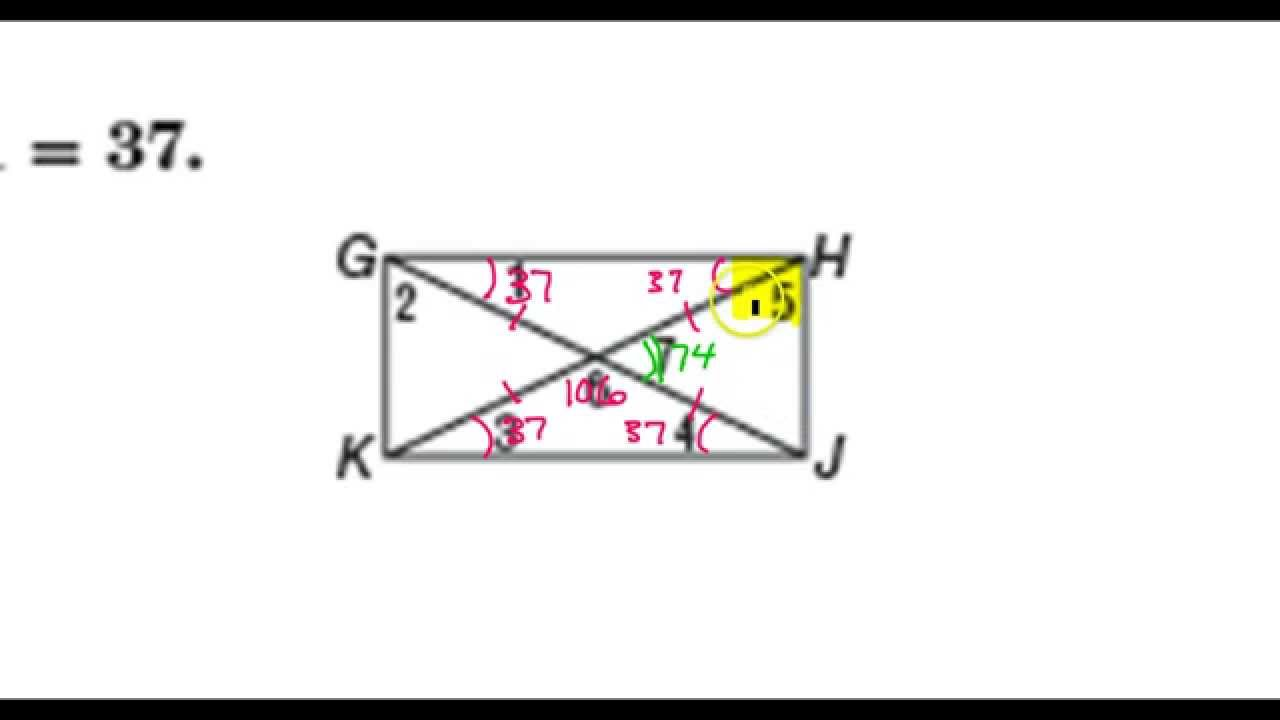 Day 11 HW #9 to #11 Rectangle Proof, Finding Angles in a