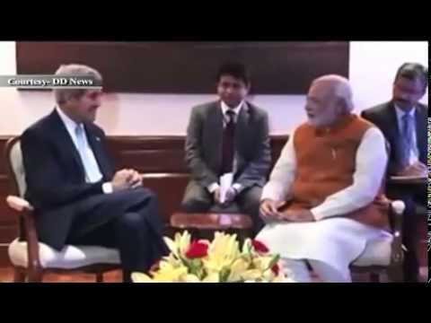 US Secretary of State, Mr. John Kerry meets PM Shri Narendra Modi