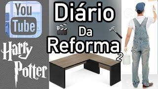 DIY MESA DE ESCRITÓRIO, ESPELHOS DECORATIVOS E MAIS #DiarioDaReforma