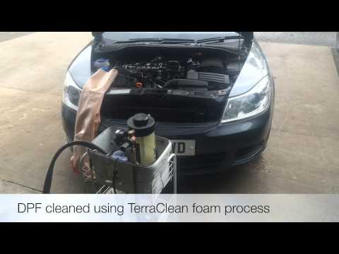 How we clean a blocked DPF (diesel particulate filter) using terraclean