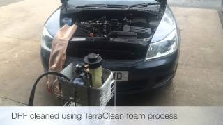 how we clean a blocked dpf diesel particulate filter using terraclean